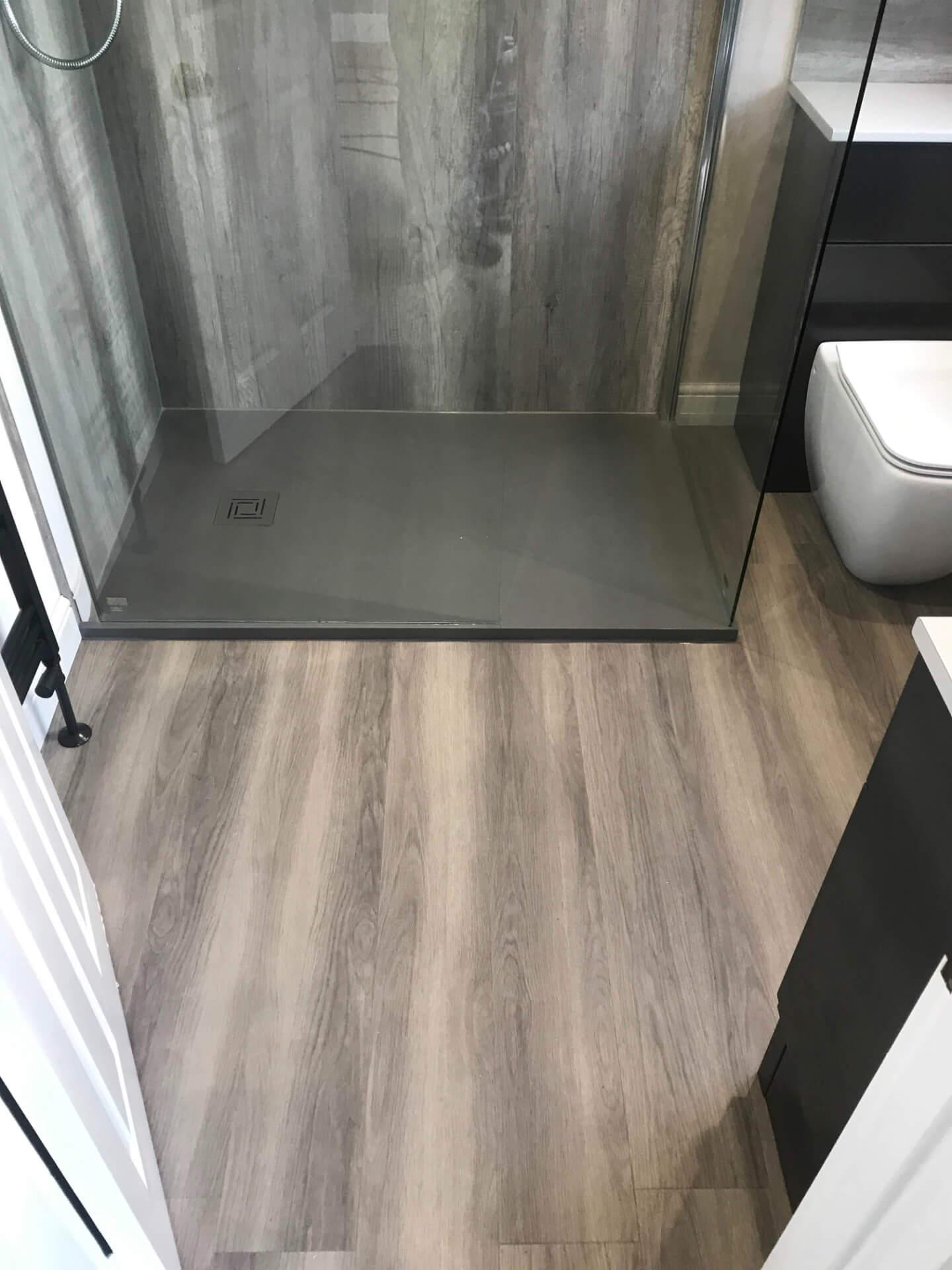 New Bathroom Wooden Flooring