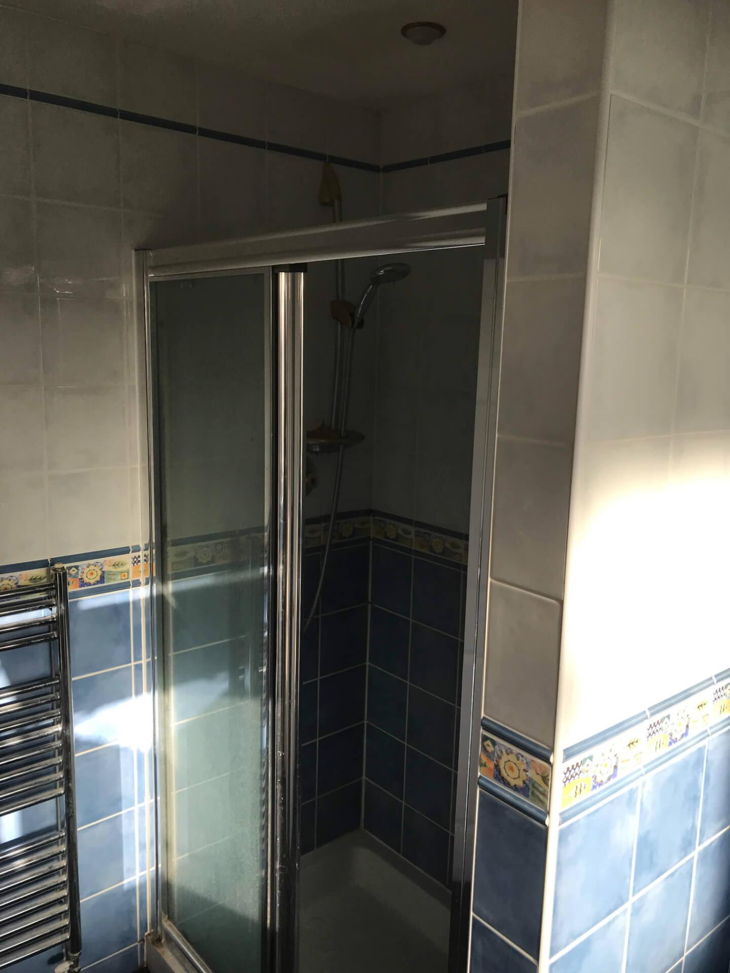 Old Bathroom Shower Unit