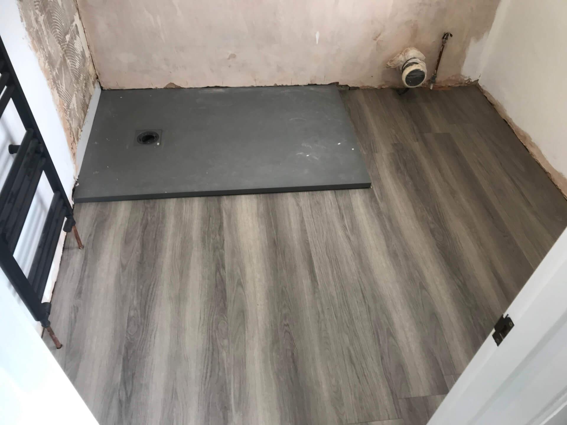 New Bathroom Flooring Mounting