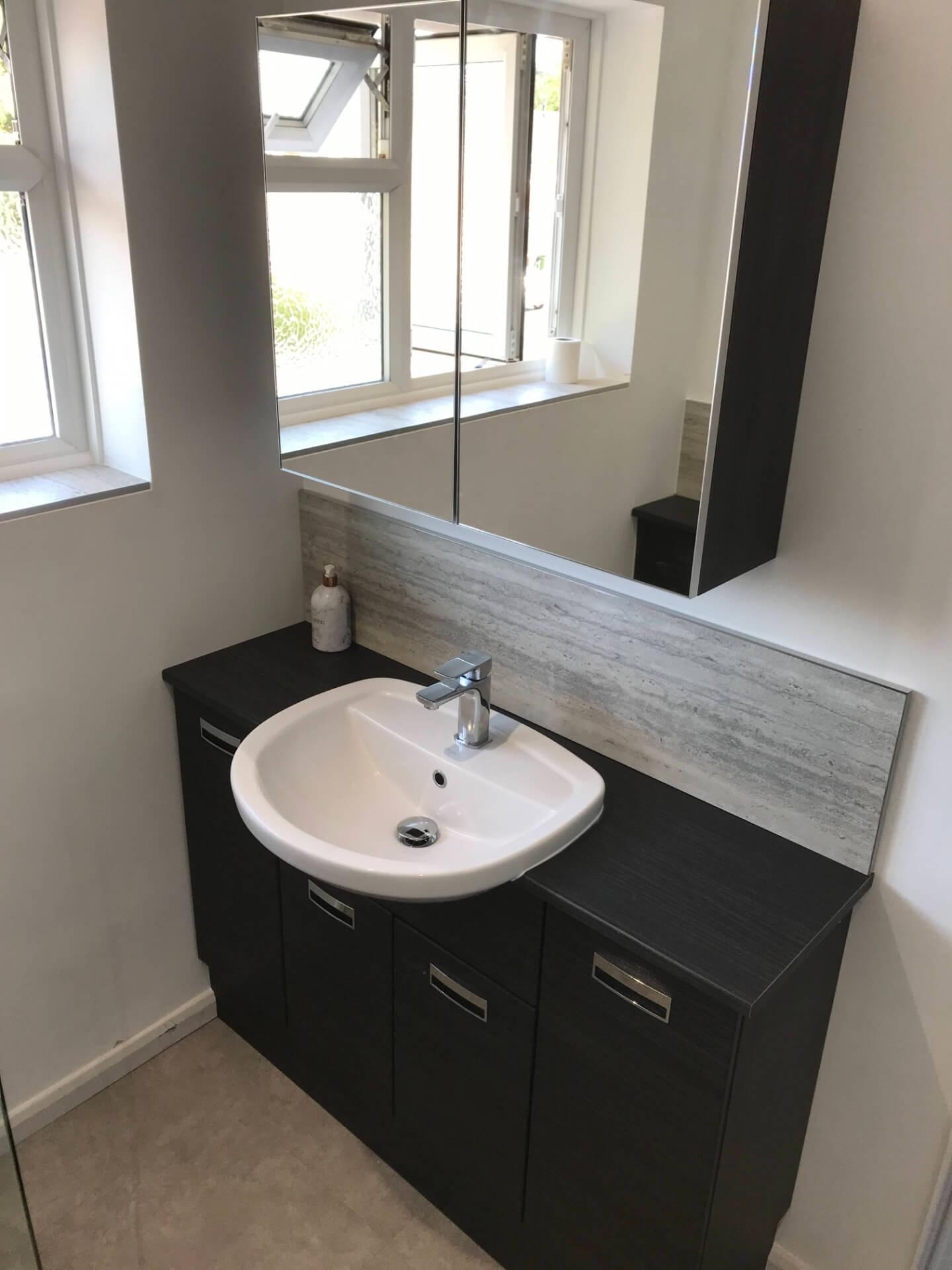 New Modern Black Bathroom
