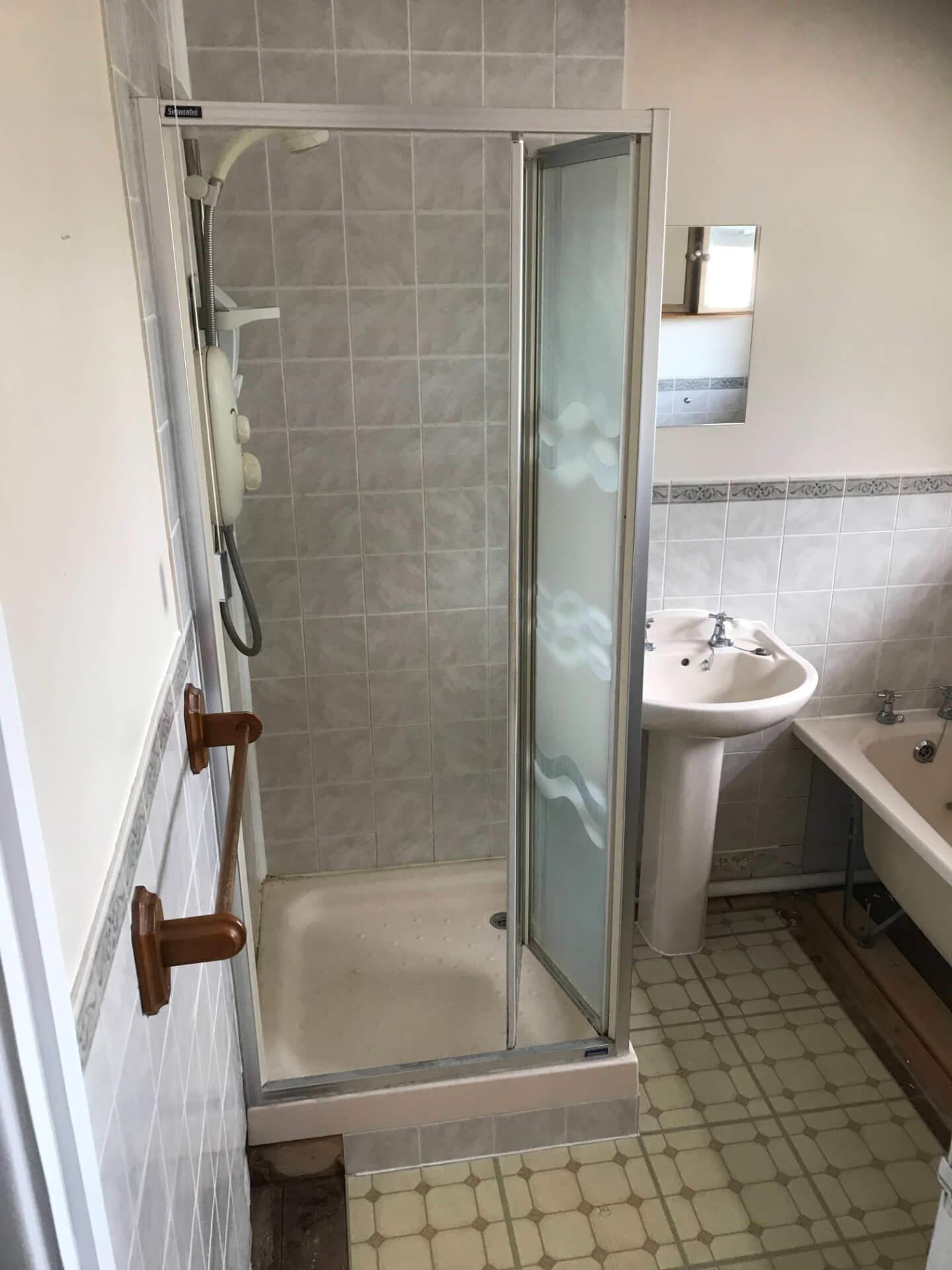 Old Bathroom Shower