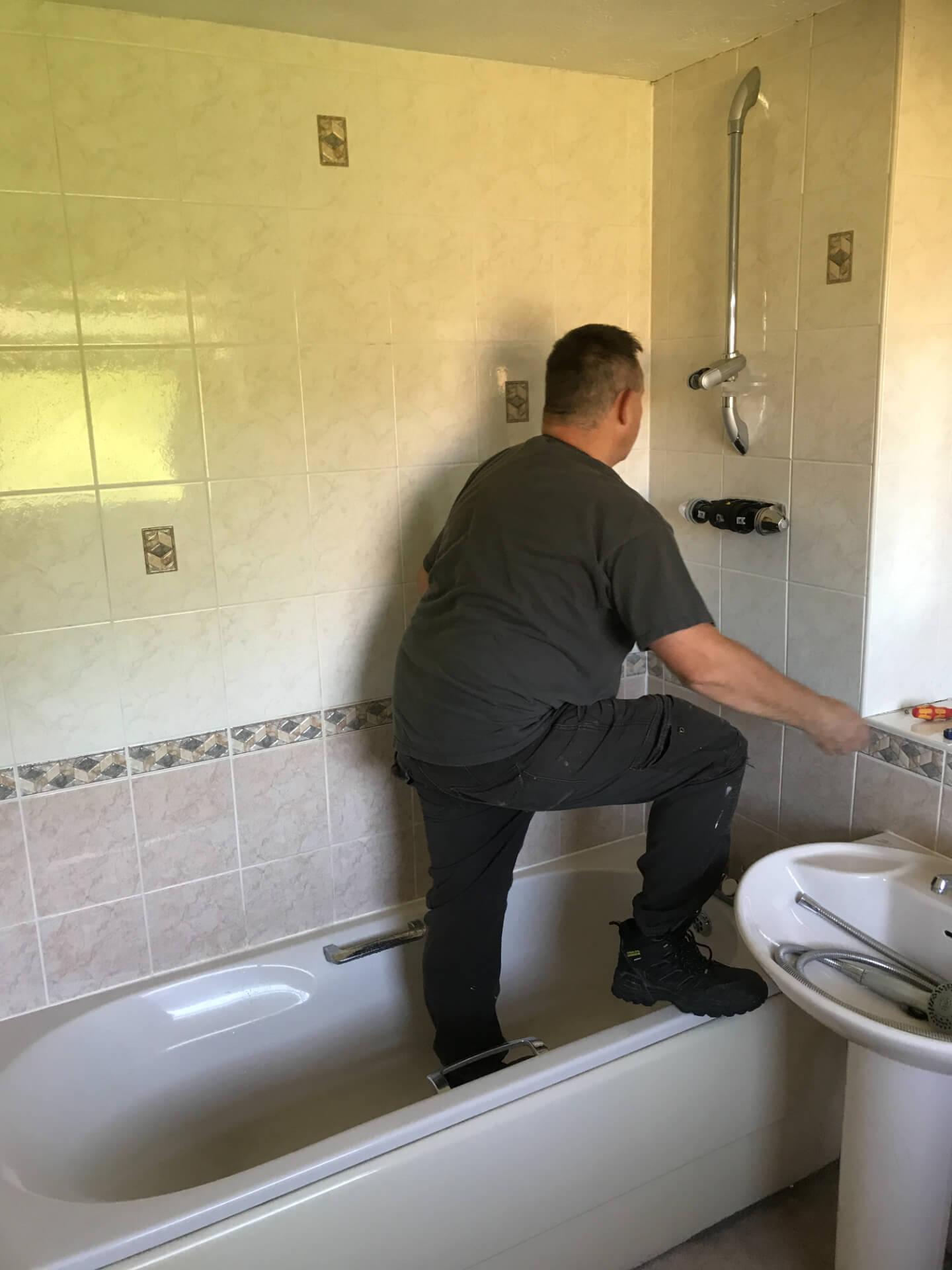 Bathroom Shower Installing