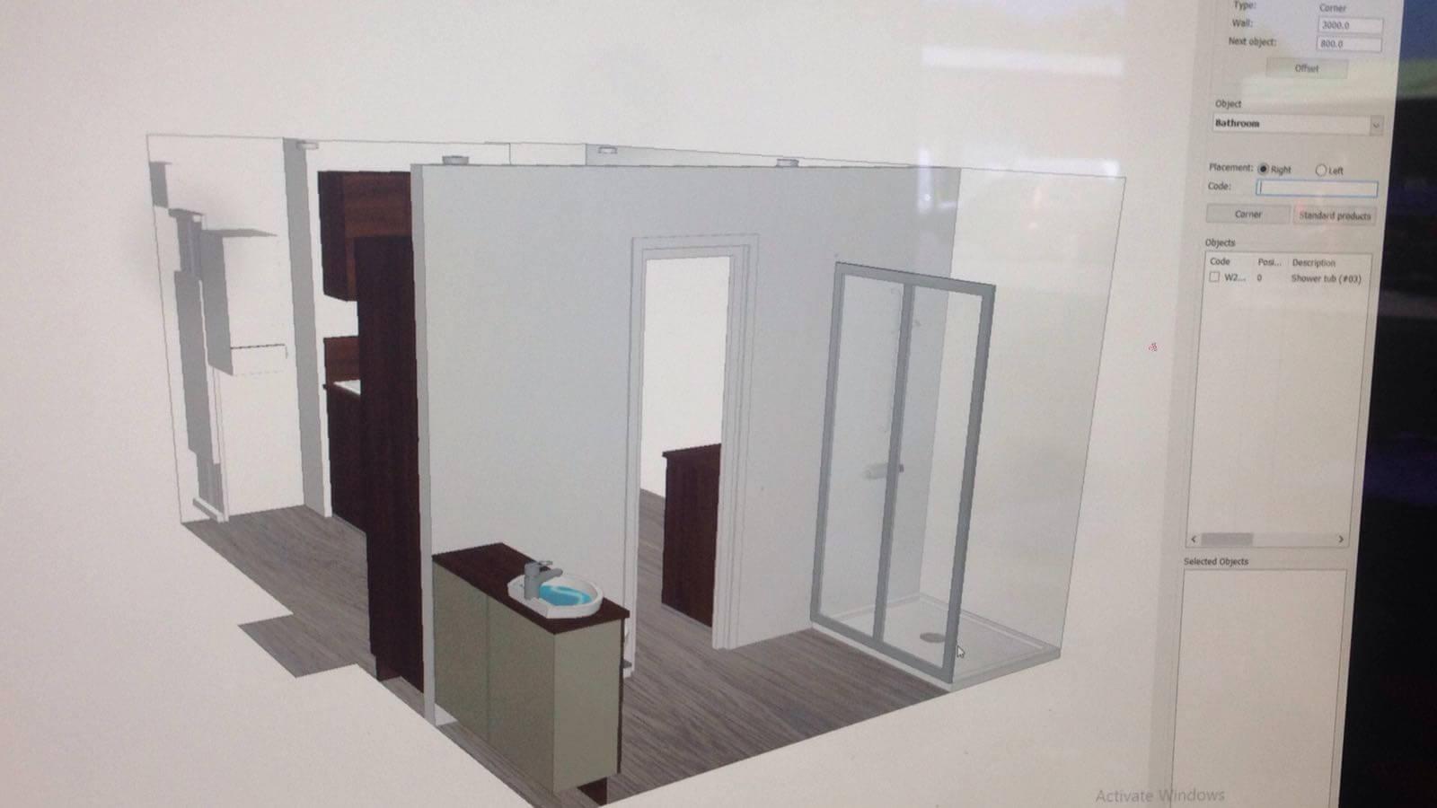 3d Plan of Bathroom
