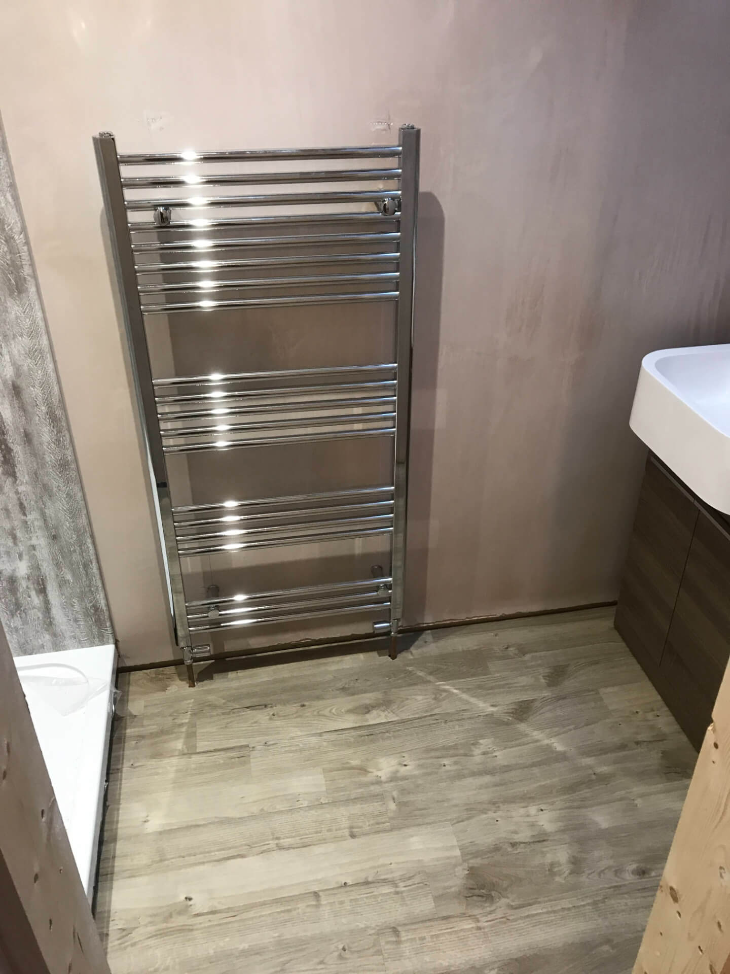 New Silver Bathroom Radiator