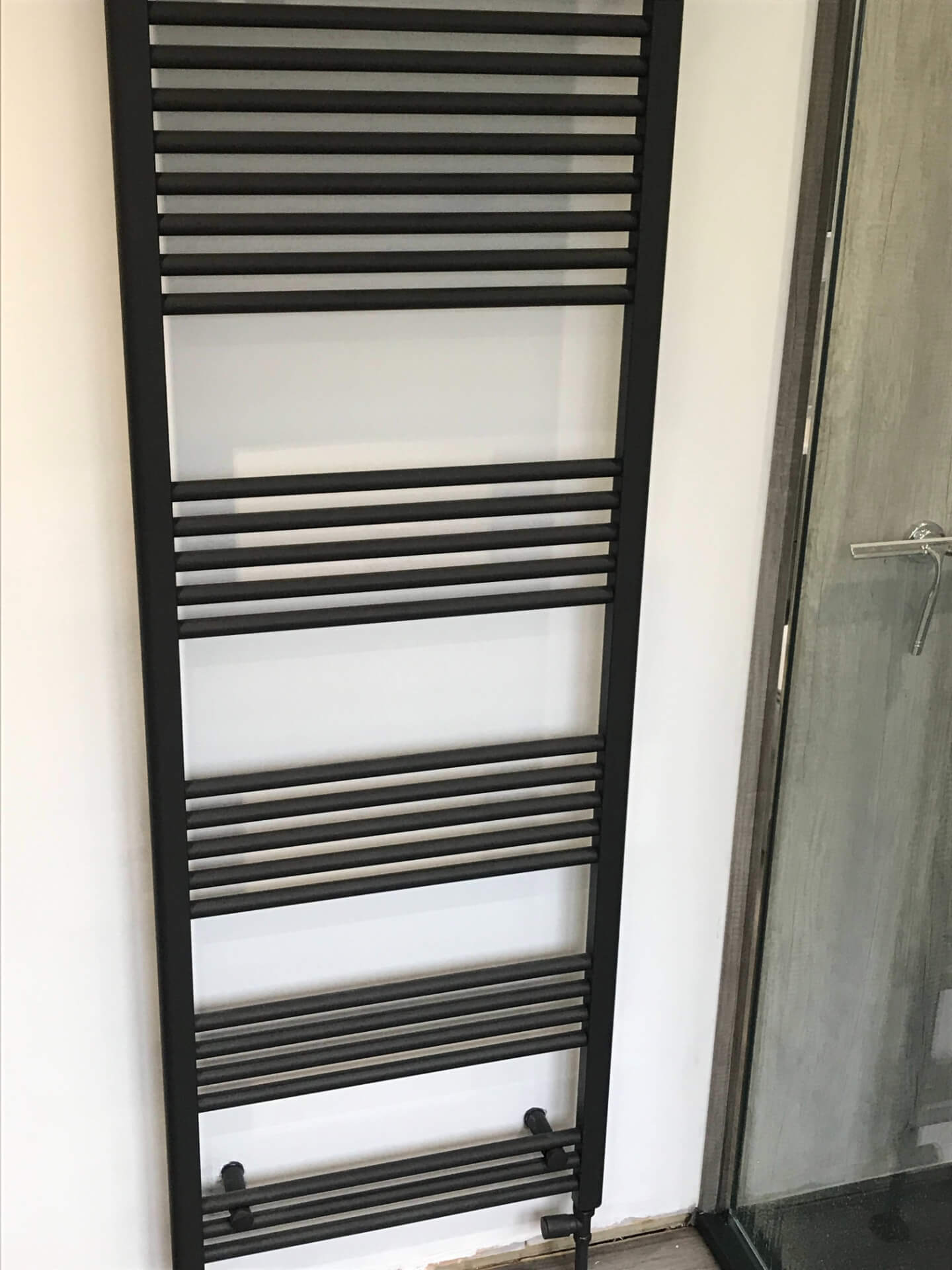 New Black Bathroom Radiator