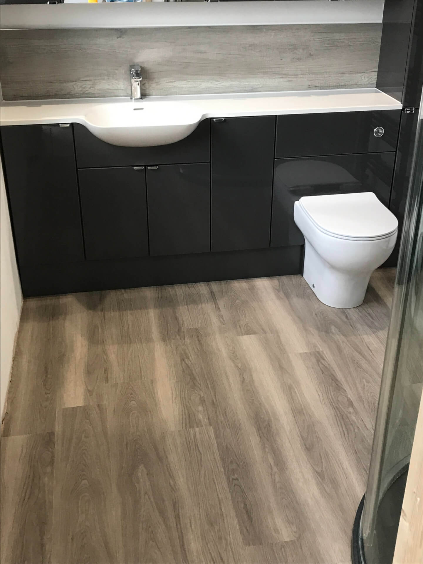 New Wooden Bathroom Flooring