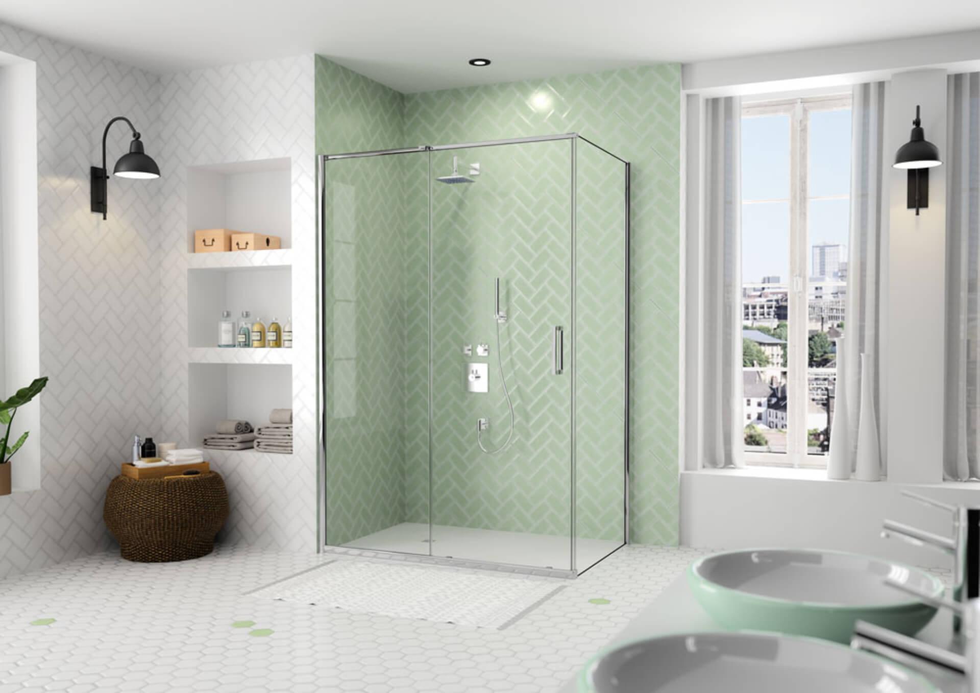 Arysto shower in green
