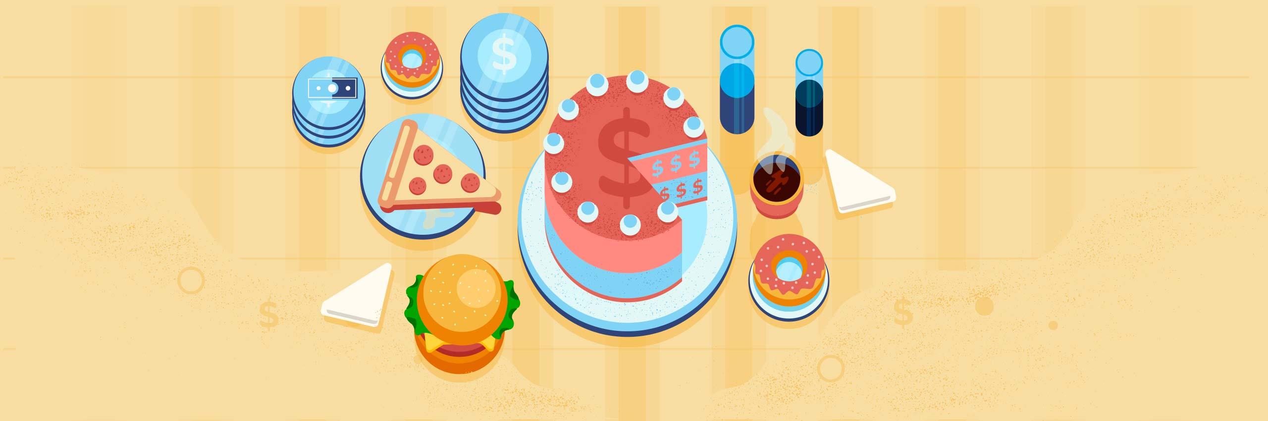 An illustration showing restaurant payroll