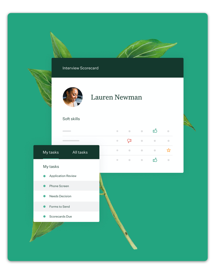 Greenhouse workforce management software preview.