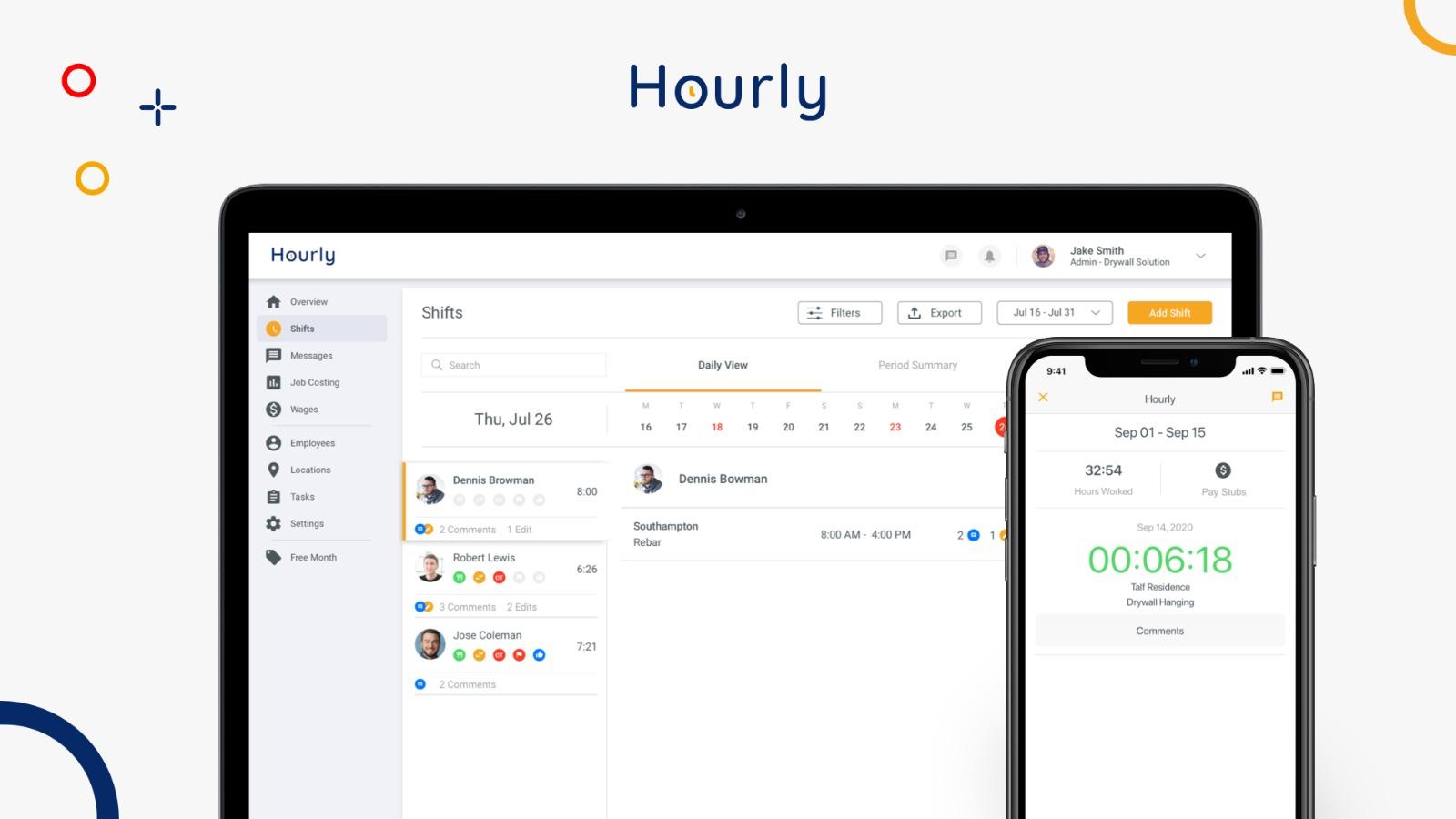 Hourly App Employer's View: Employee Lookup