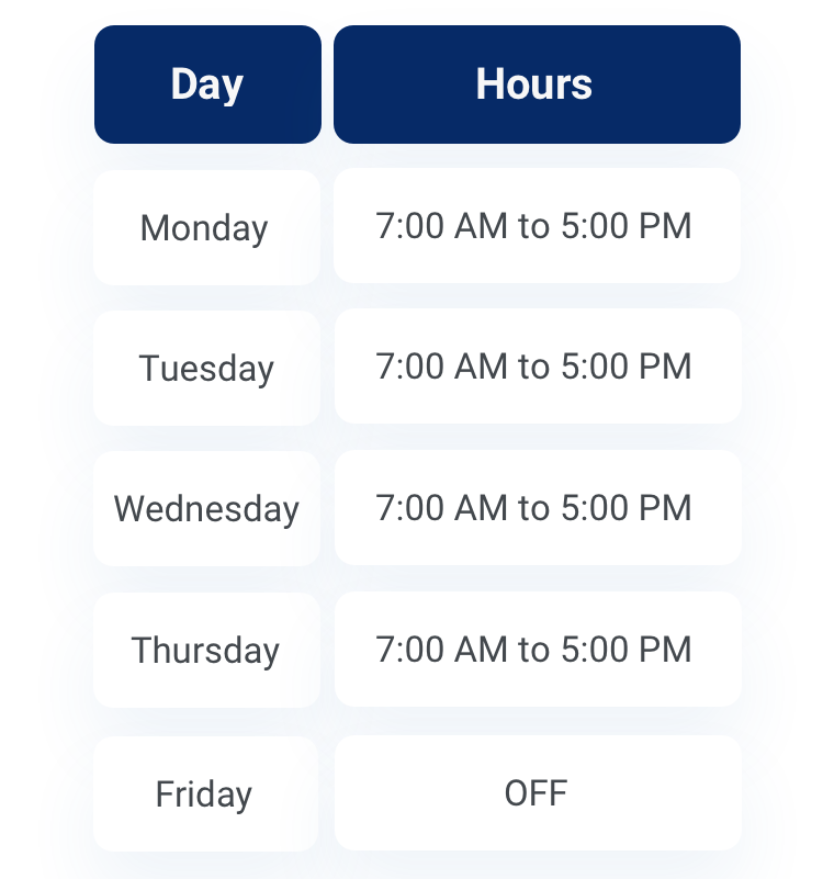 4/10 schedule in days and hours