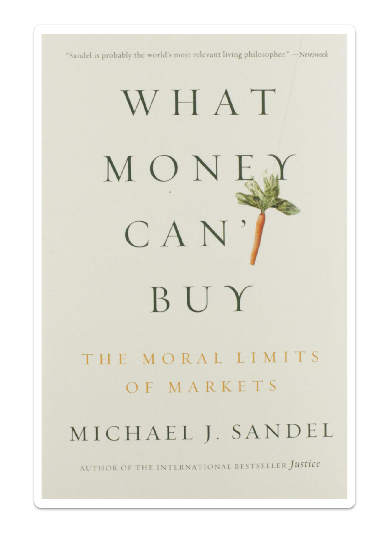 Book cover for What Money Can't Buy