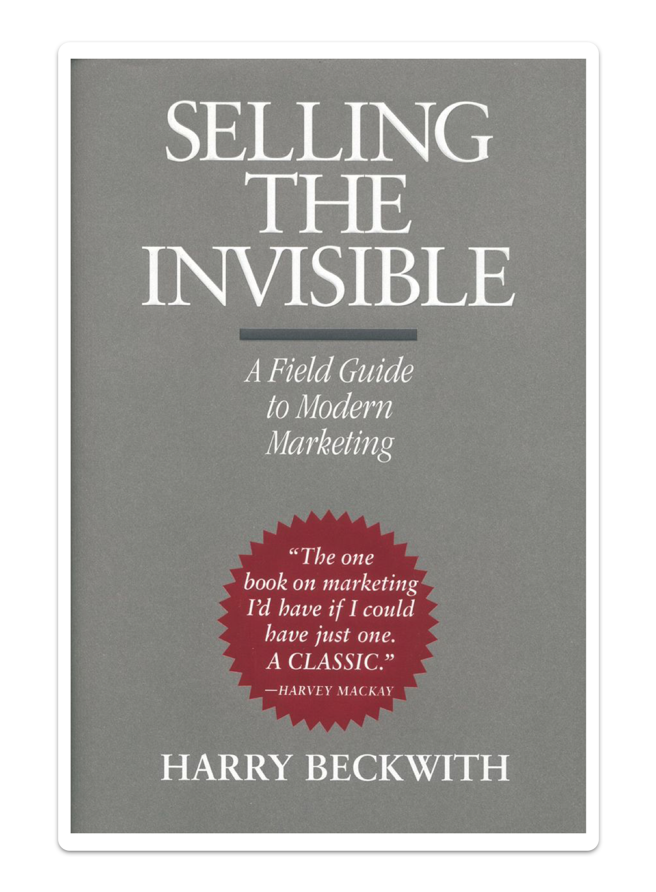 Book cover for Selling the Invisible