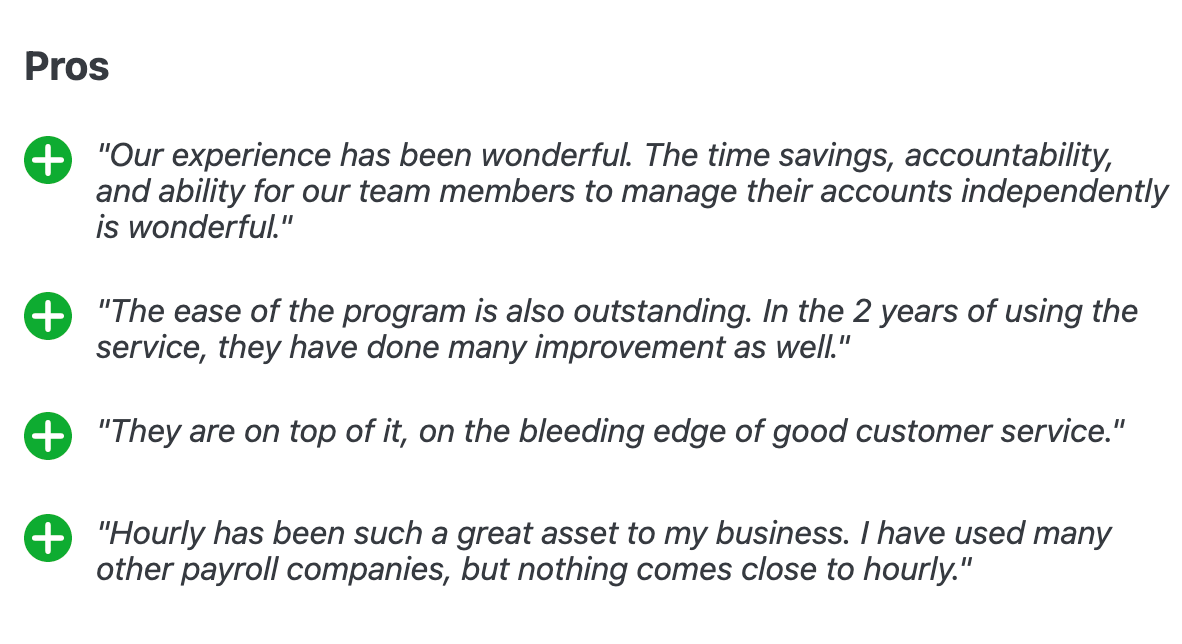 Reviews of Hourly from Capterra