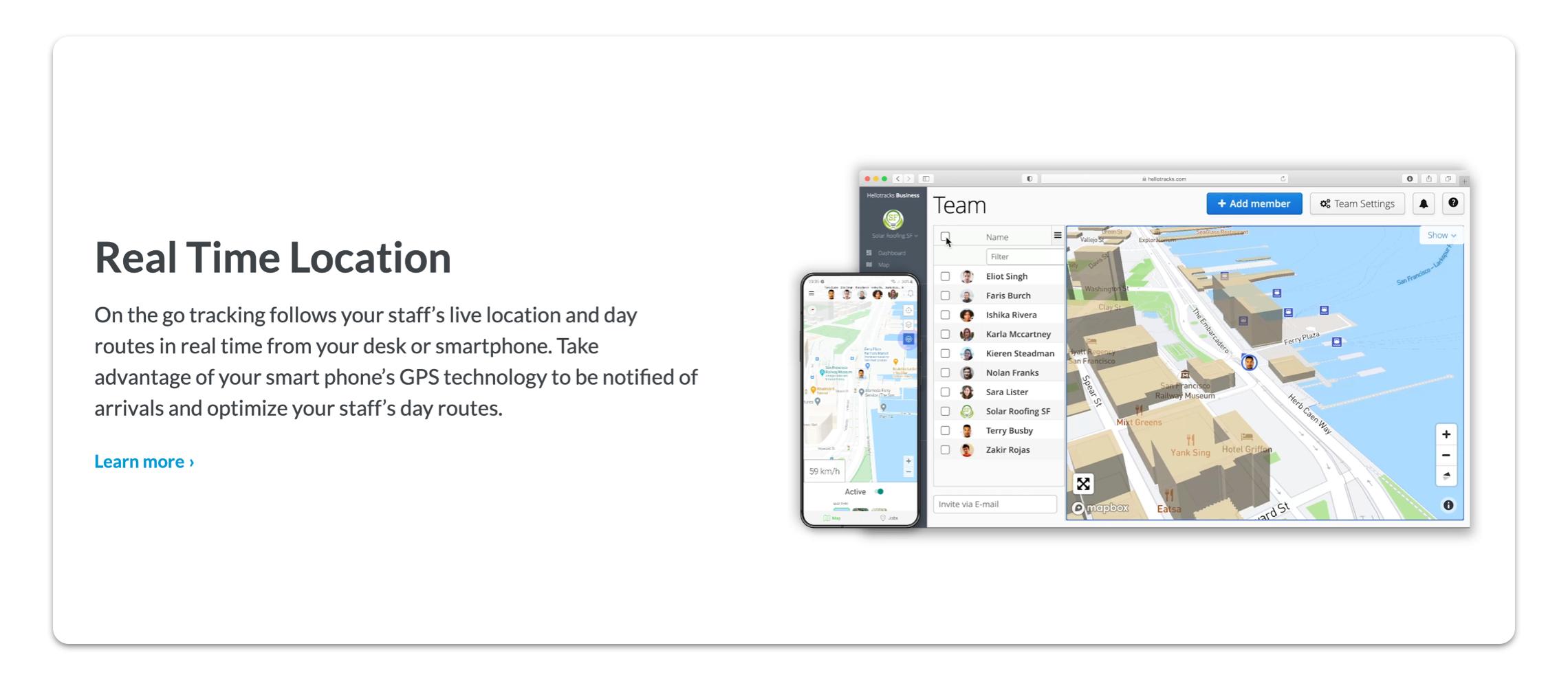 Hellotracks app screenshot