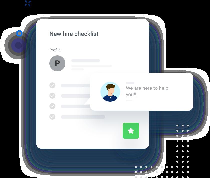 Hourly's new hire checklist screenshot