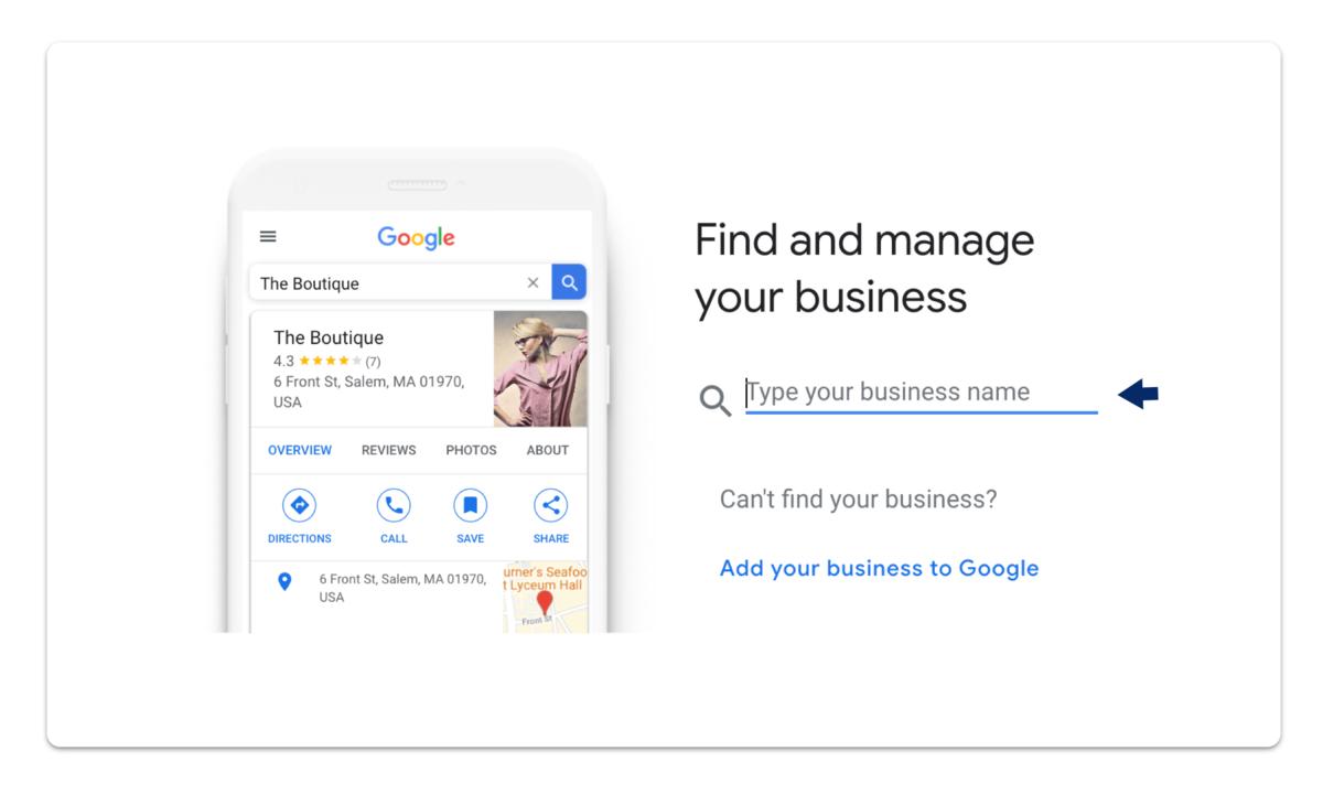 GMB business search screenshot