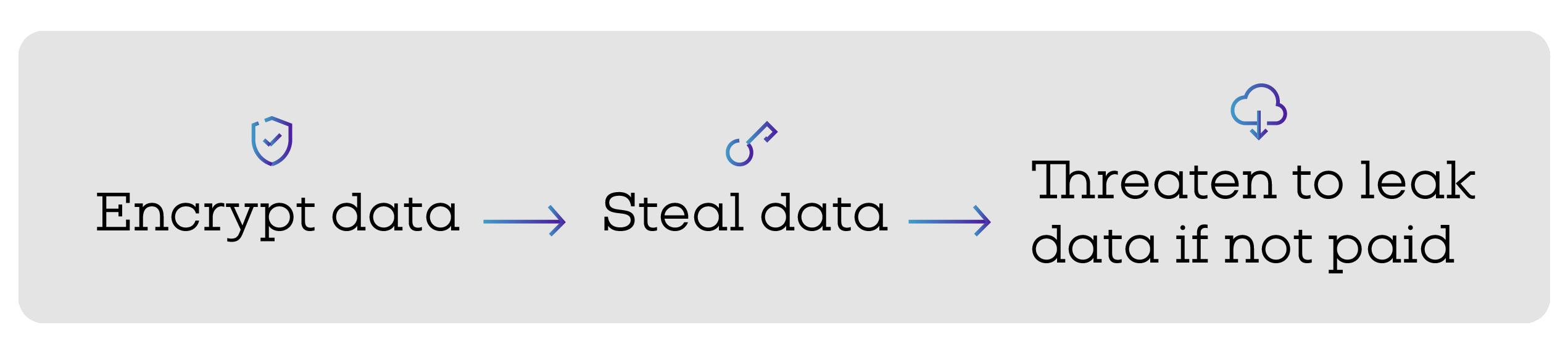 Encrypt PHI data - steal data - leak data