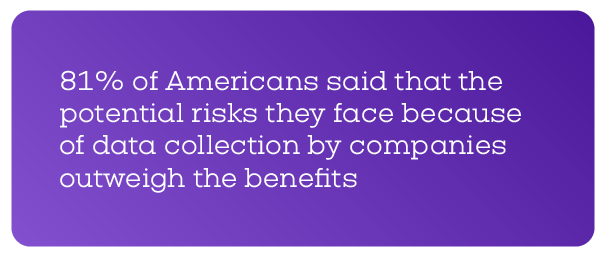 Potential risks of personal data collection outweigh the risks