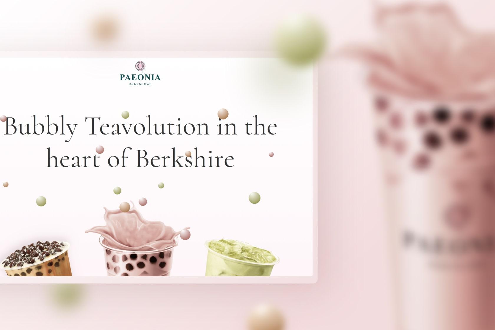 A mockup of a website that sells Bubble tea.