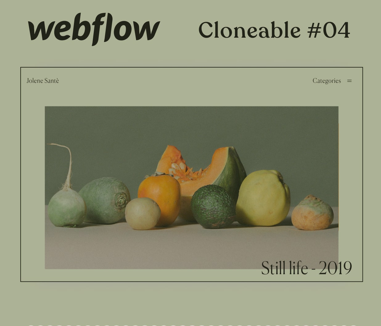 A mockup od a webpage for a photography portfolio