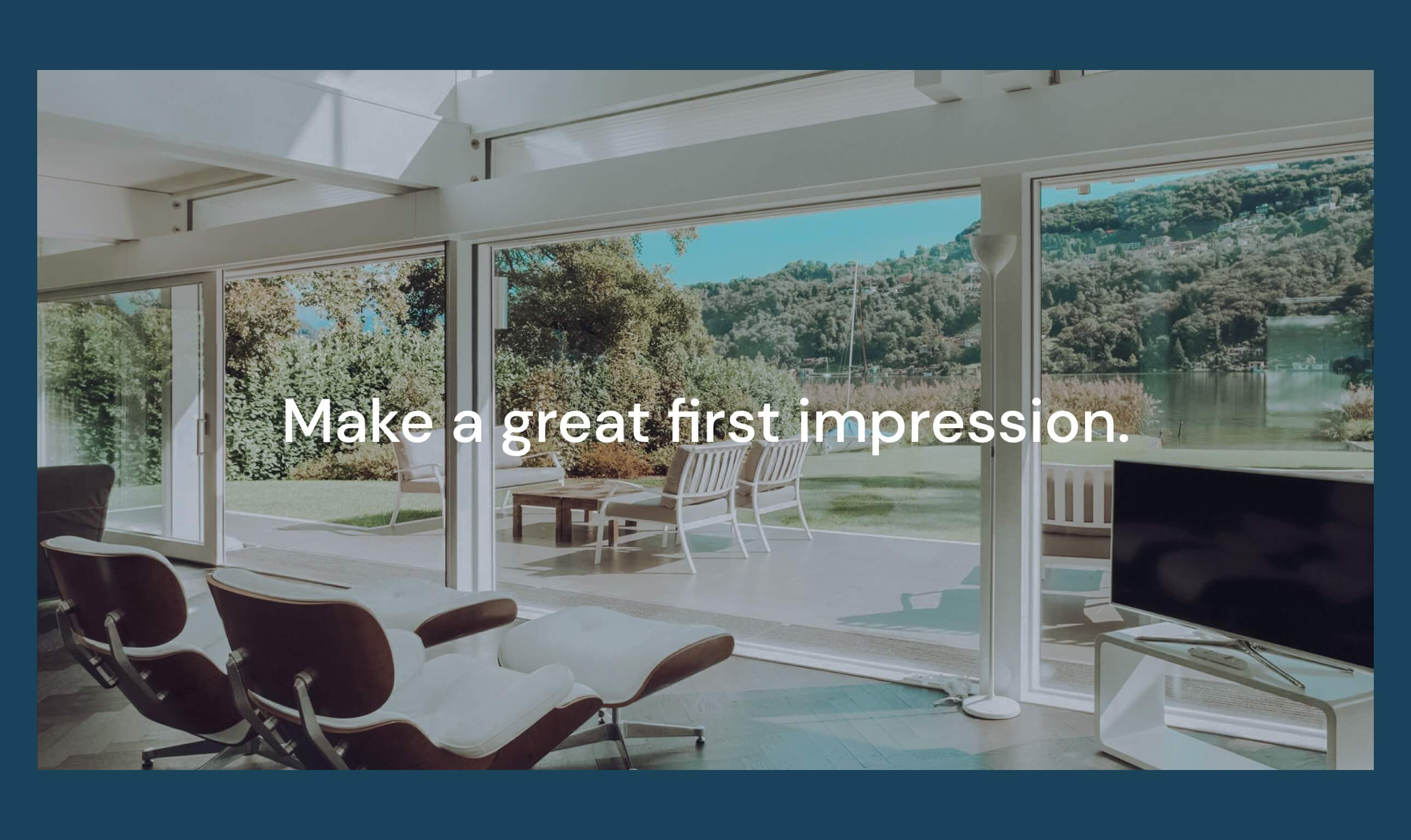 Fenestra claim on big windows with a Mountain view- Make a great first impression.