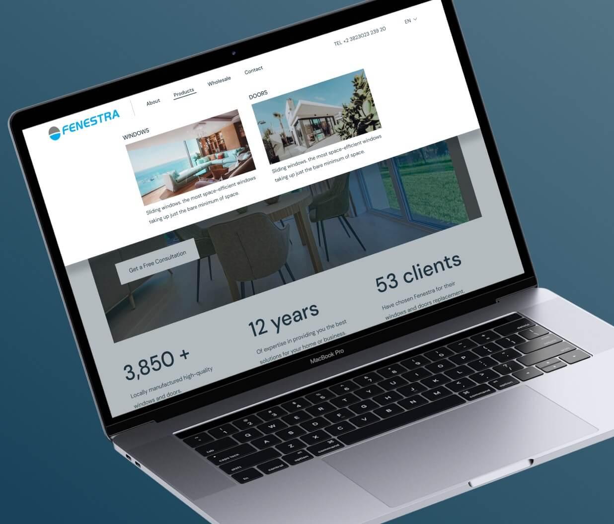 A view of website dropdown navigation menu.