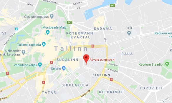 Change Invest Tallinn Office map