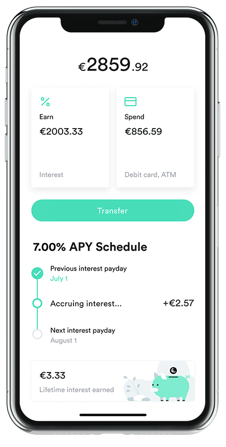 Grow your savings with Change app mobile interface