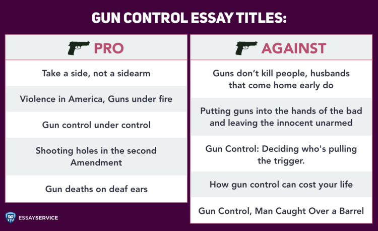 gun control essay pro and against titles