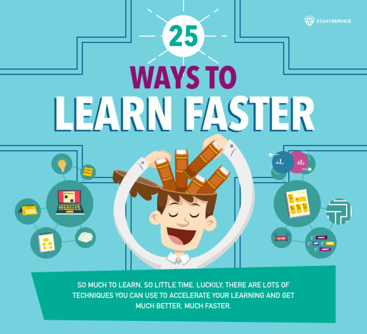 Top Brain Hacks to Learn Faster and Remember MORE - INFOGRAPHIC