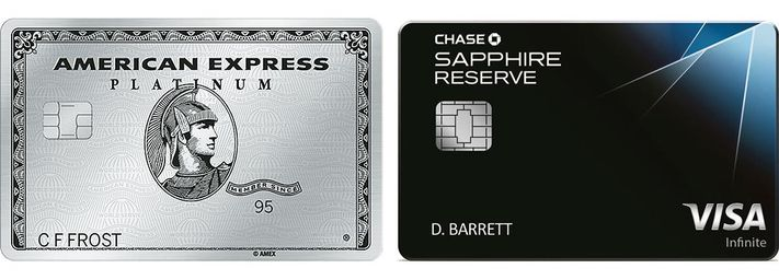 best credit card travel American Express Platinum Chase Sapphire Reserve