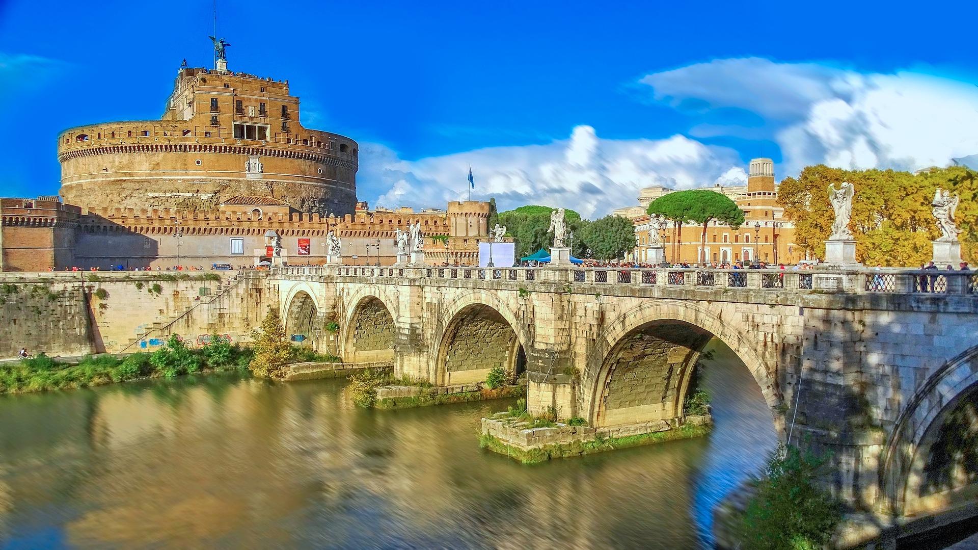 Bridge to the Vatican in Rome, Italy