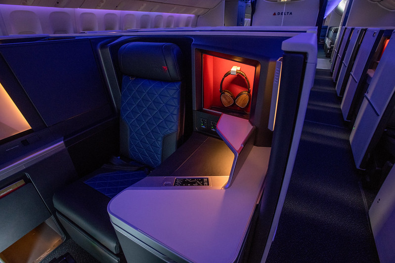 Delta One Suites on an A350