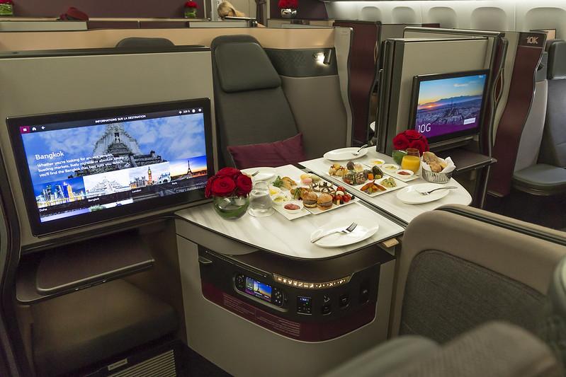 Qatar Airways Qsuite on an A350