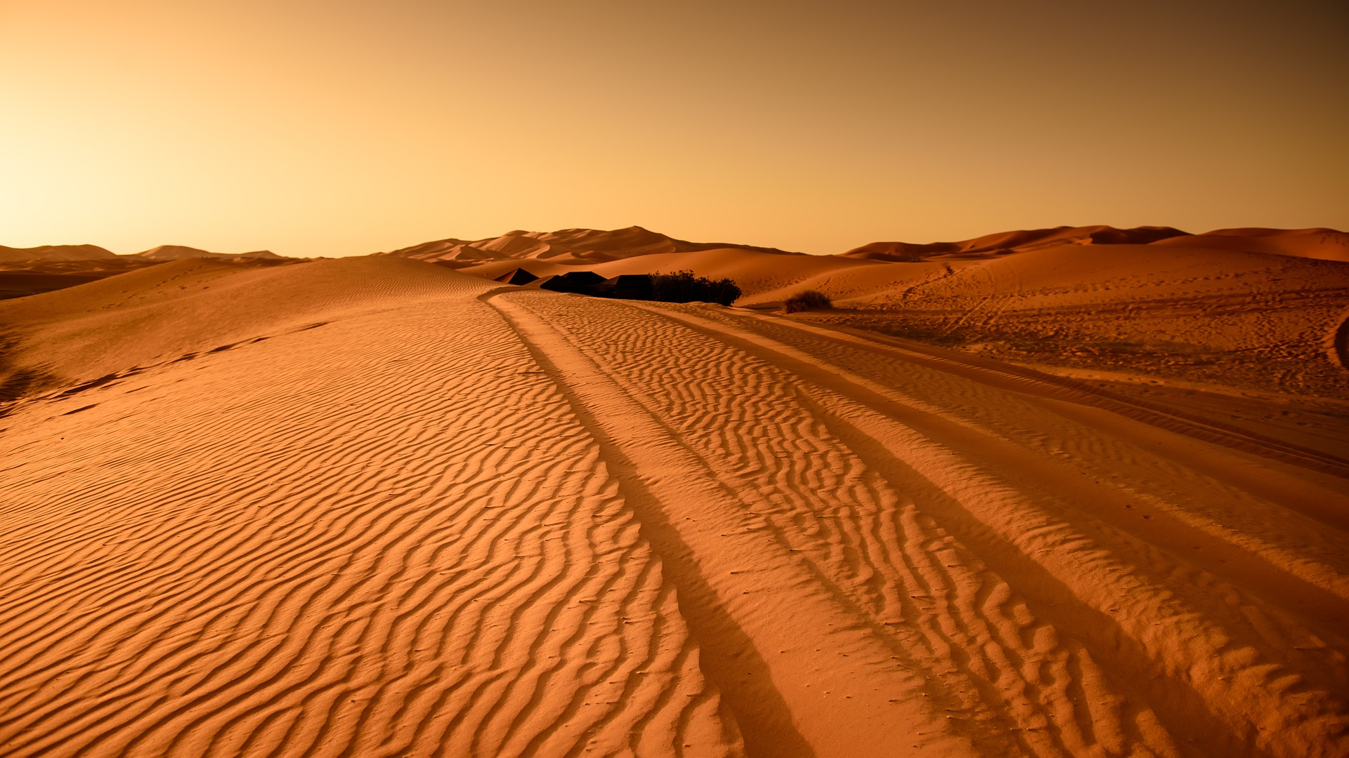 sand dunes in the moroccan desert