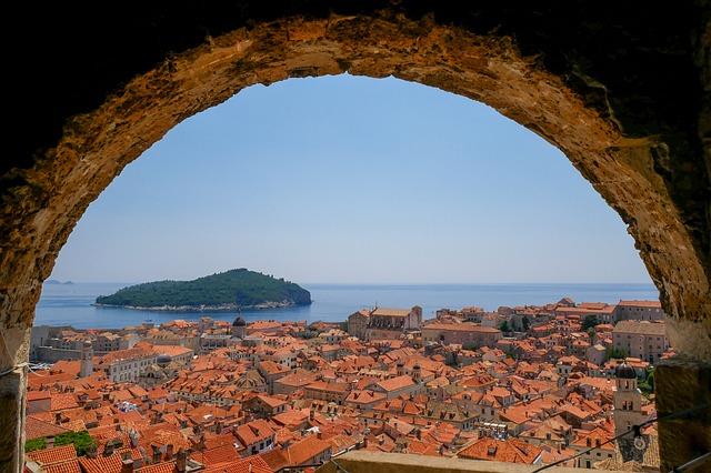 Oceanview from above Dubrovnik, Croatia