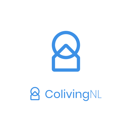 colivingnl logo in blue with white background