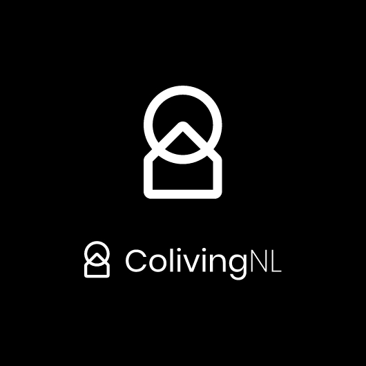 colivingnl logo in white with black background