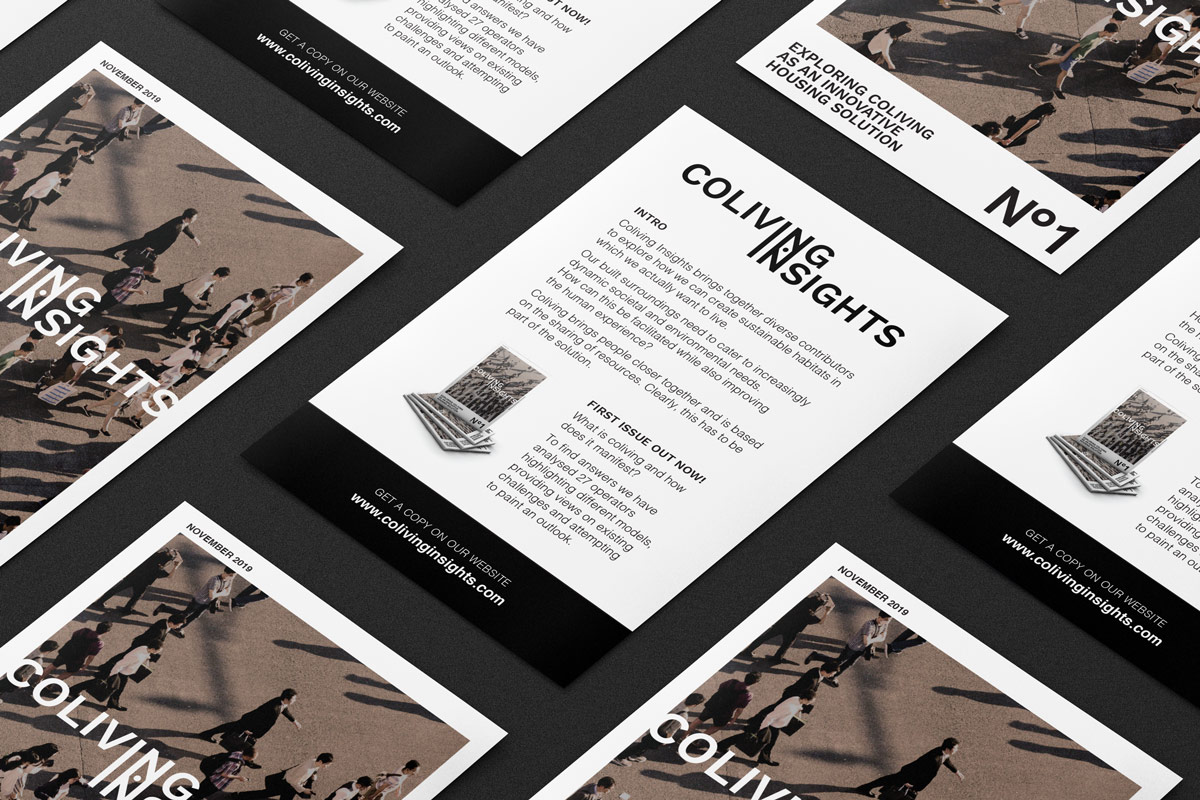 SPX Agency: Coliving Insights flyers pattern