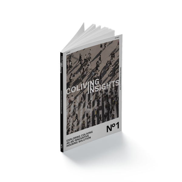 SPX Agency: Coliving Insights magazine mockup