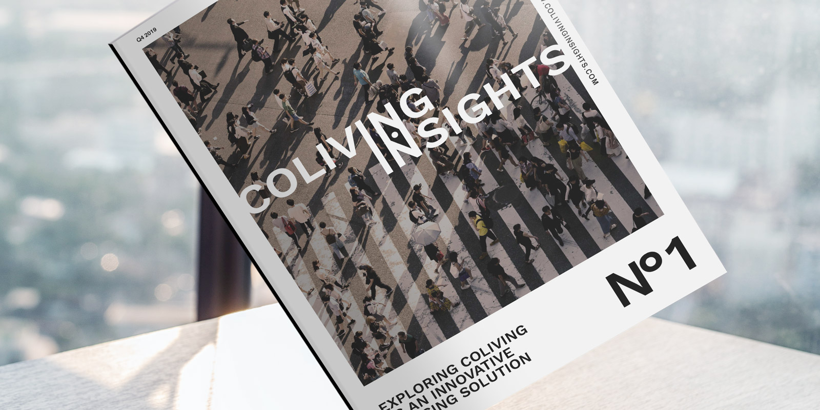 SPX Agency: Coliving Insights magazine no1 cover mockup