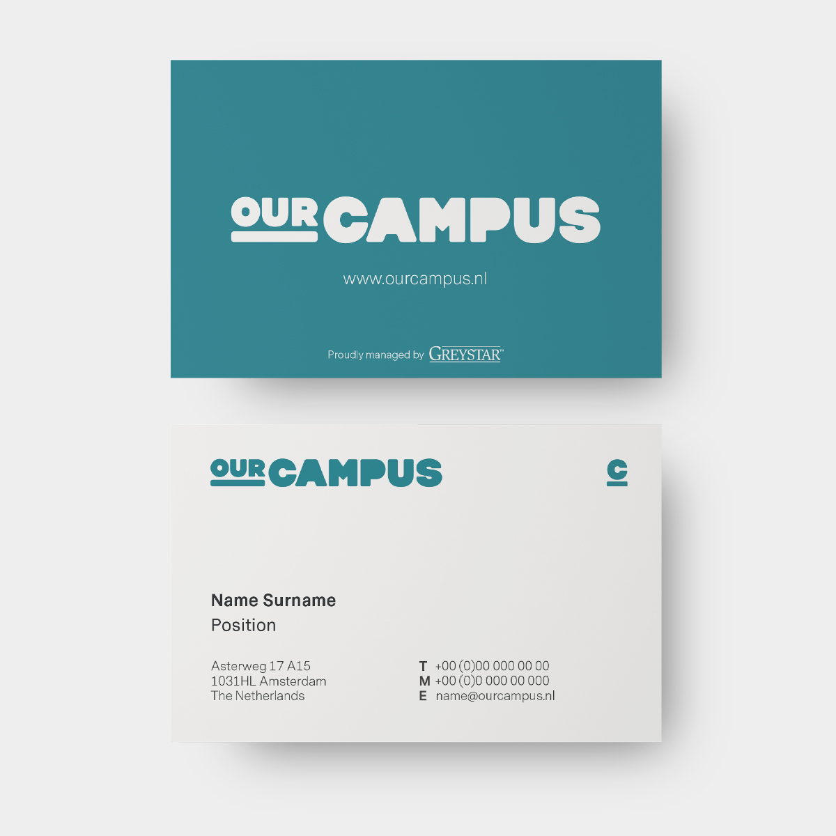 SPX Agency Work: OurCampus Business Card