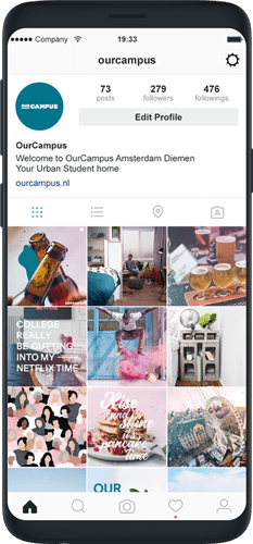 SPX Agency Work: OurCampus social media Instagram feed