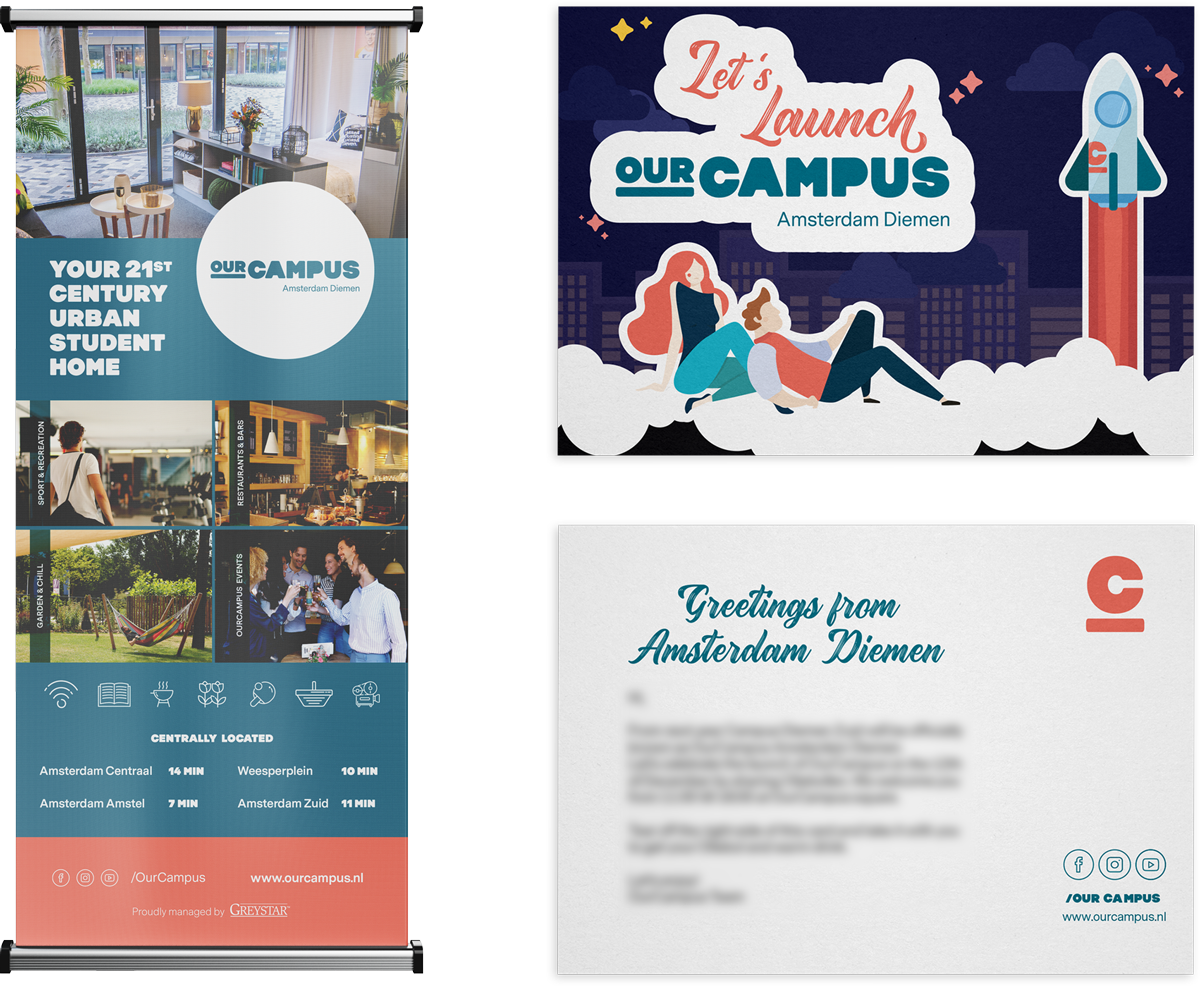 SPX Agency Work: OurCampus Launch cards