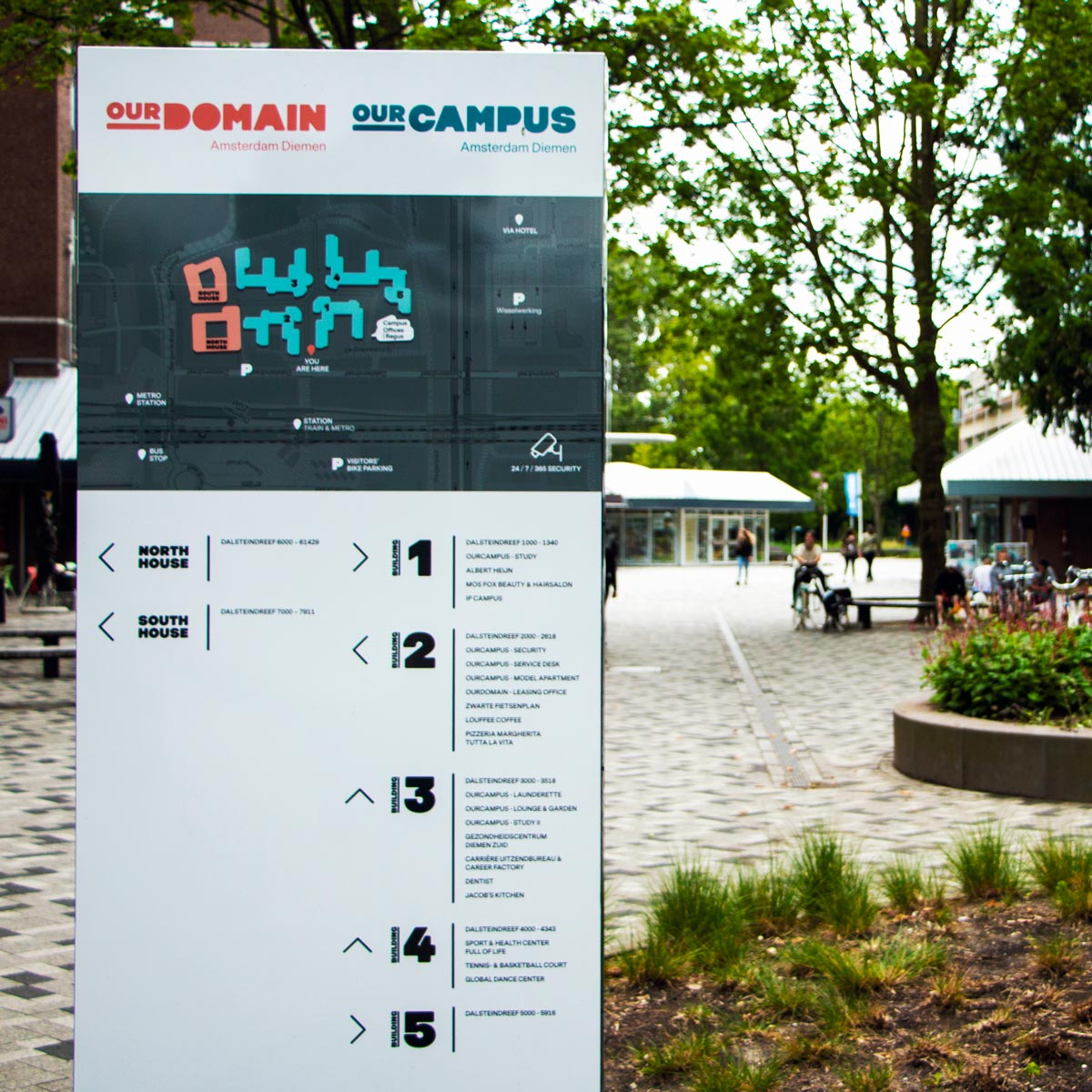 ourcampus ourdomain outdoor signage