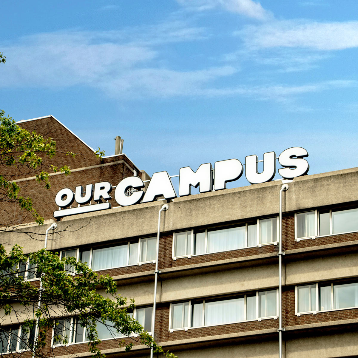 SPX Agency Work: OurCampus building with logo