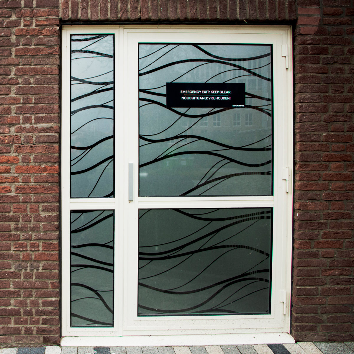 SPX Agency Work: OurCampus door with pattern