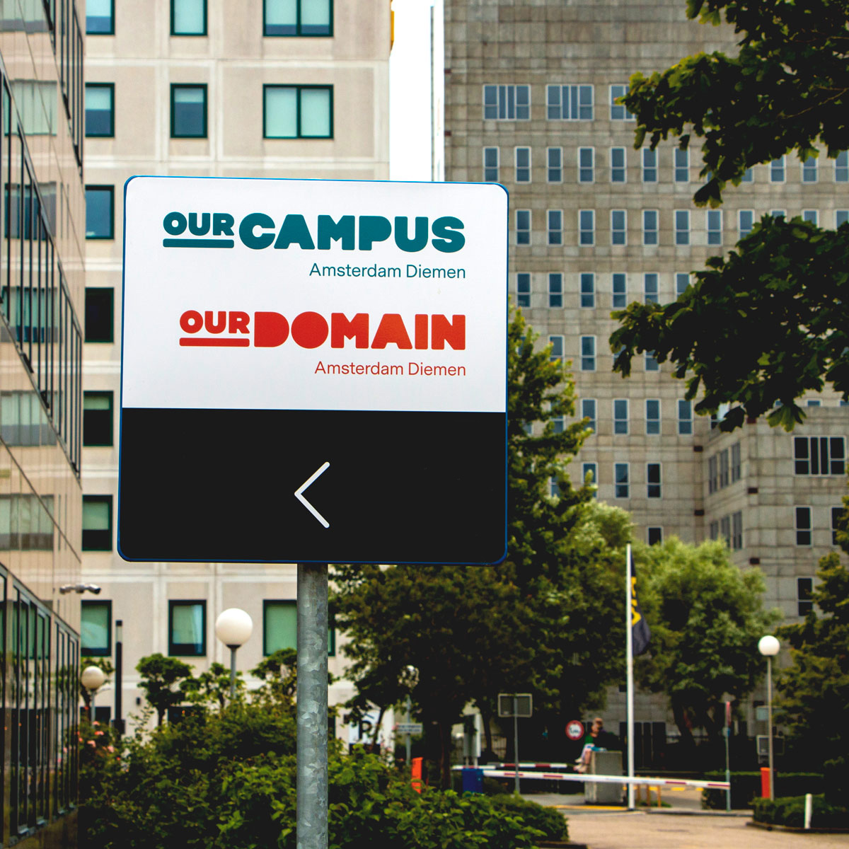 ourcampus ourdomain external street signage