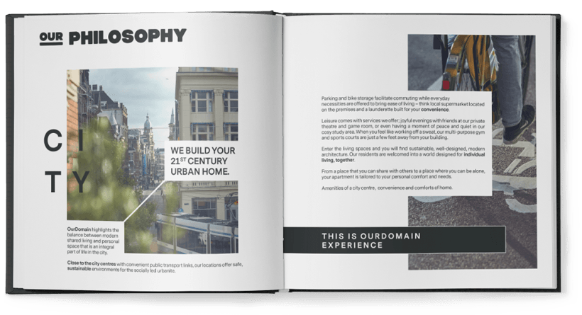 ourdomain brandbook design by spx agency